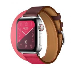 Apple Watch S4 44 mm Hermes Rose Extreme Double Tour